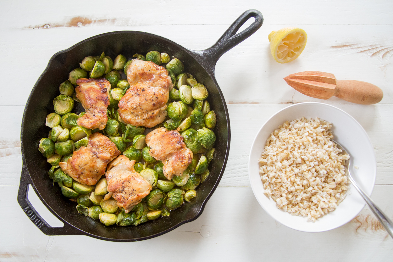 Pan roasted chicken and brussels sprouts cook smarts for Chicken and brussel sprouts skillet