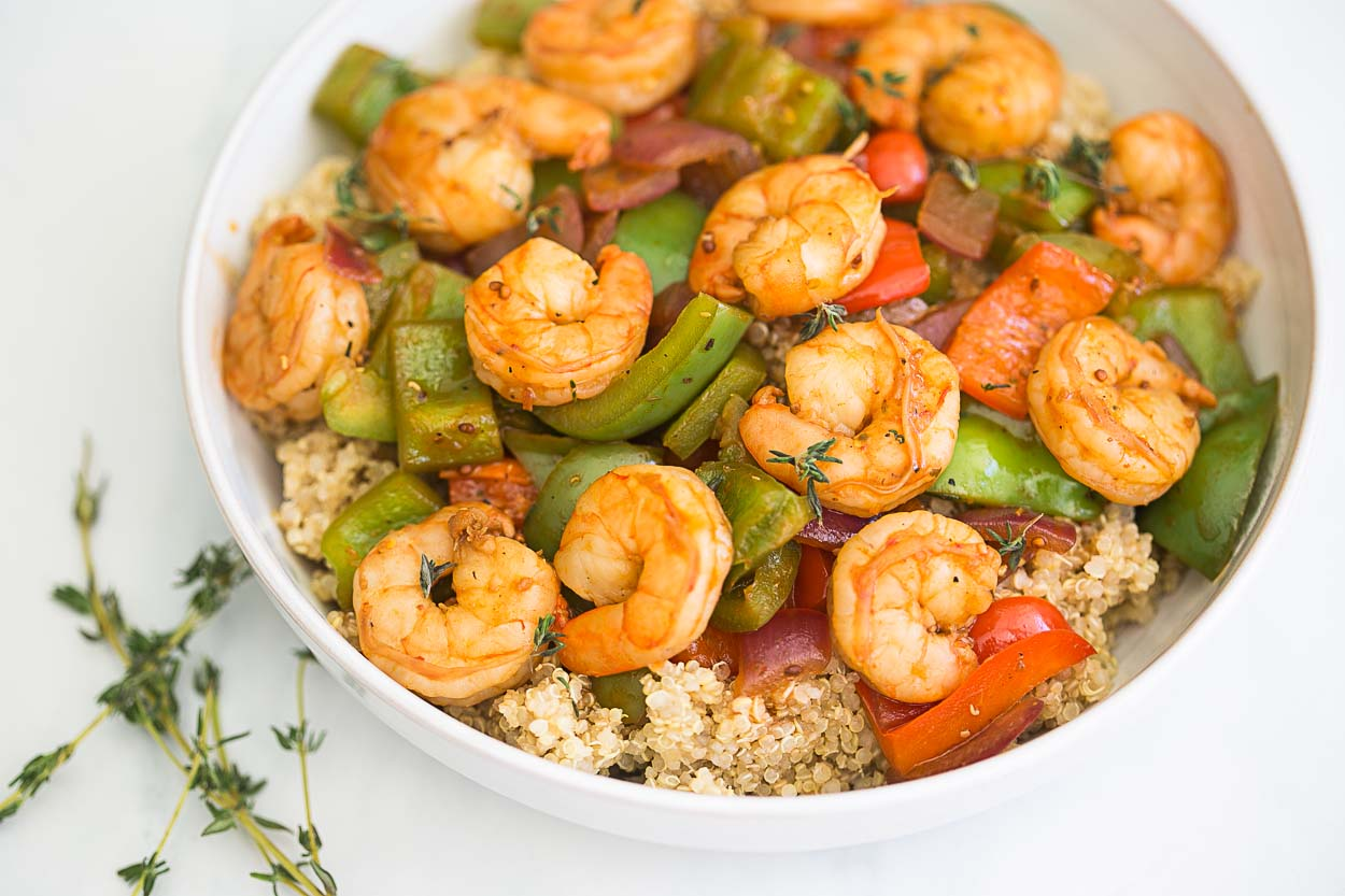 tomatoes sautéed shrimp with warm tropical fruit salsa cajun turkey ...