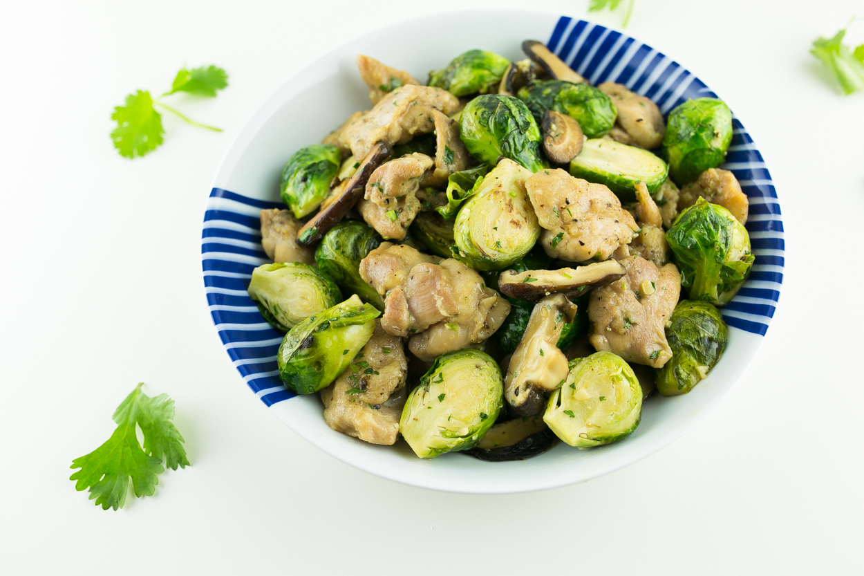 Caramel Chicken Brussels Sprouts Stir-Fry - Cook Smarts