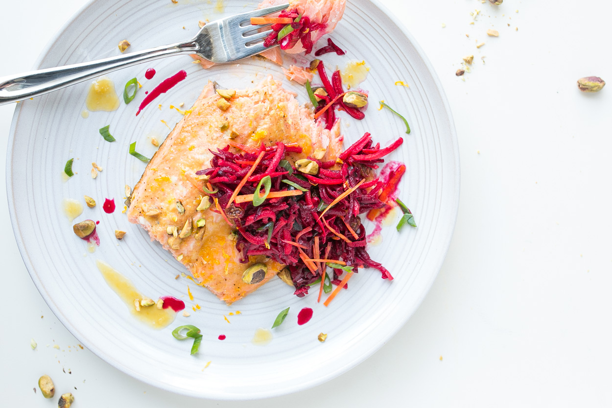 Orange-Ginger Roasted Salmon with Quinoa - Cook Smarts