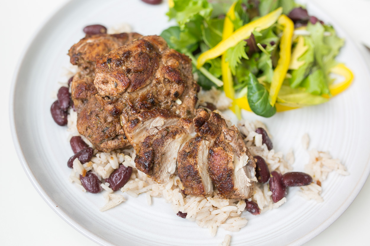 Jerk Chicken Thighs | from 3/9/15 - Cook Smarts