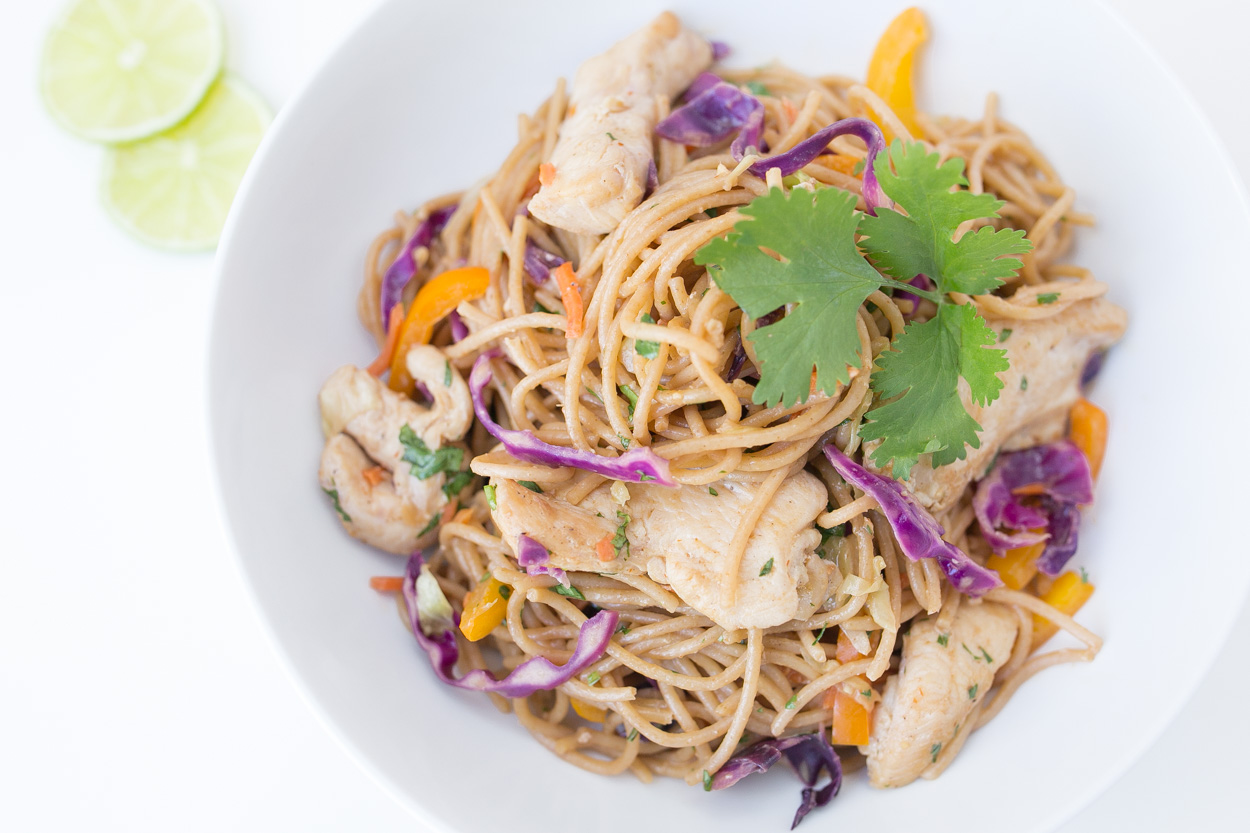Chicken Peanut Thai Noodles Recipes — Dishmaps
