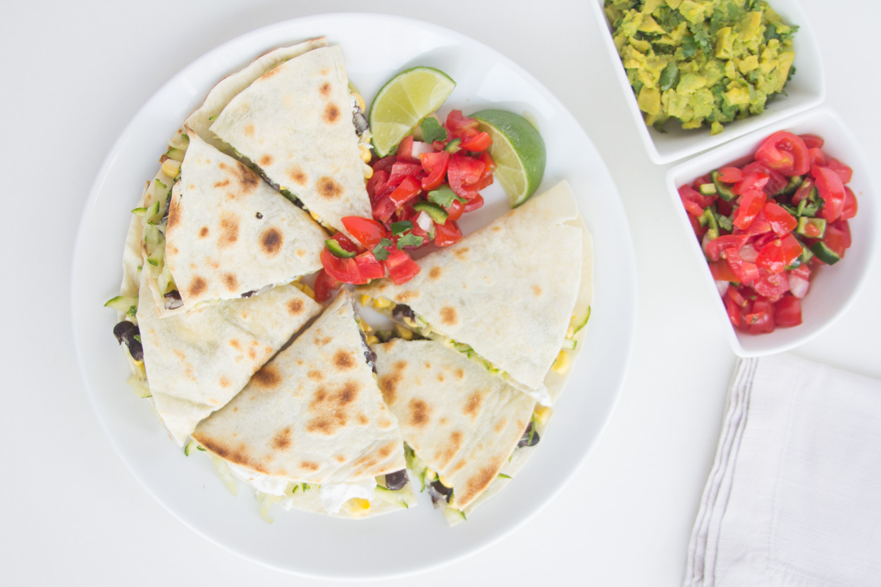 Black Bean, Zucchini and Goat Cheese Quesadillas - Cook Smarts