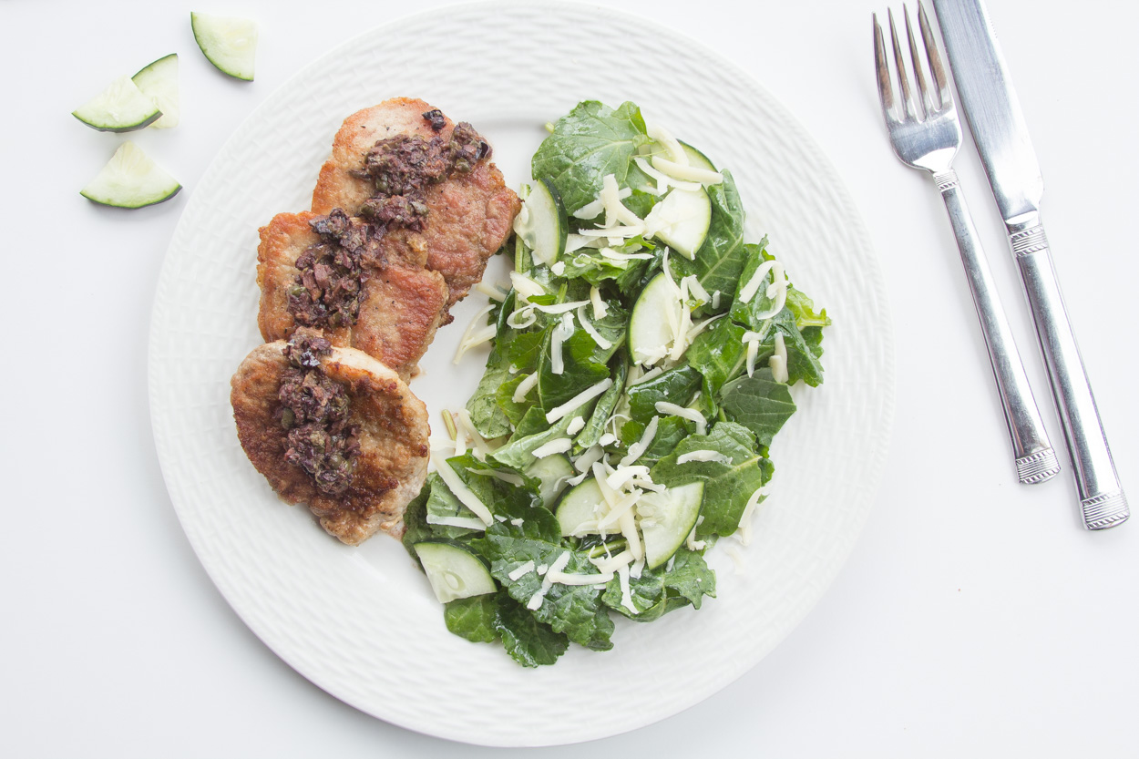 Pork Cutlets with Olive-Caper Sauce - Cook Smarts
