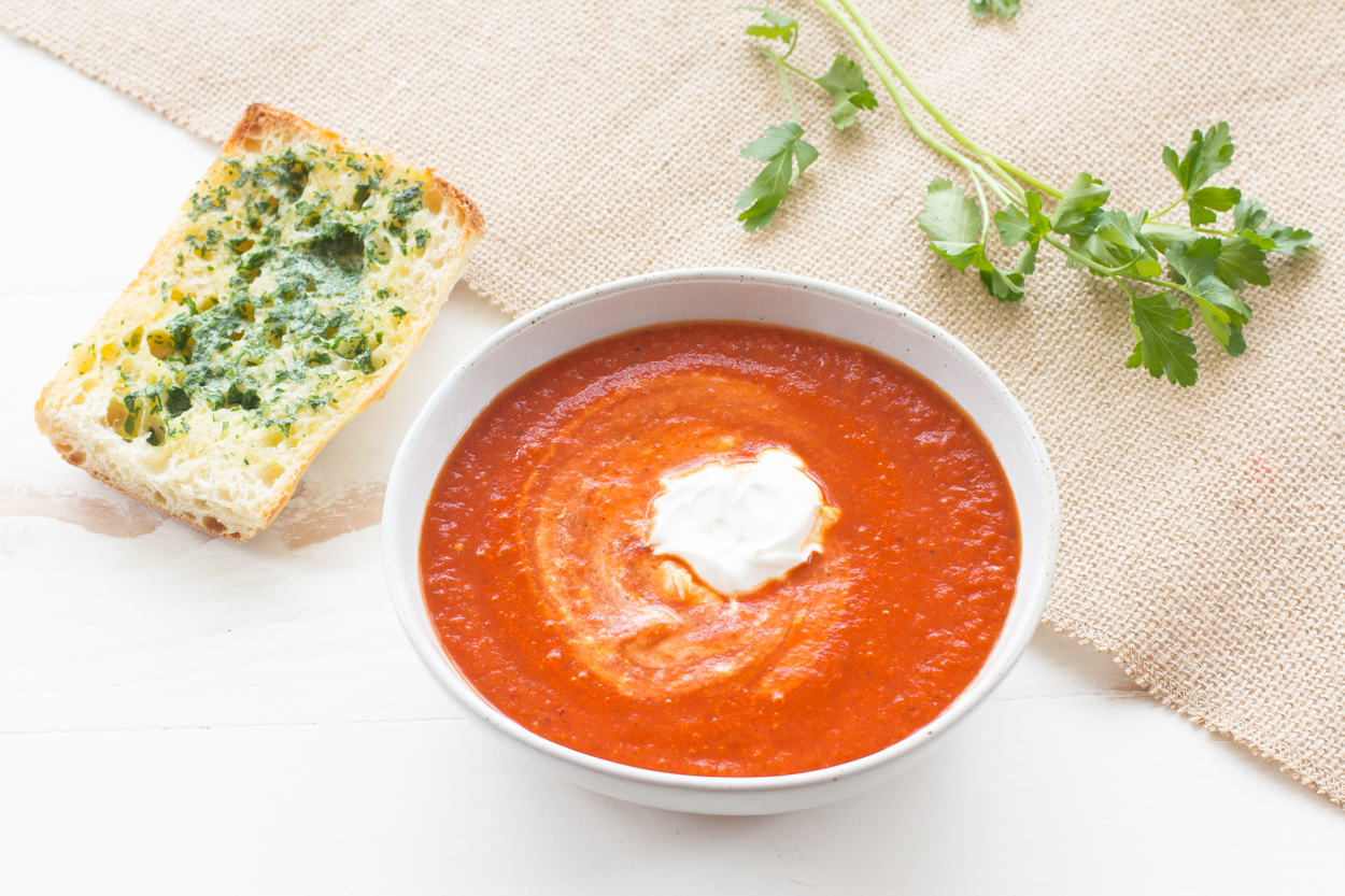 Smoky Tomato and Bell Pepper Soup - Cook Smarts