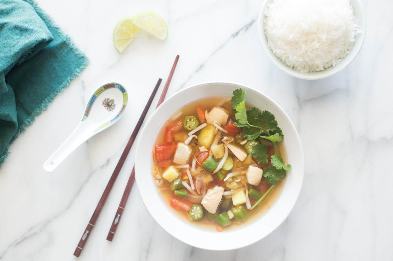 Sweet And Sour Vietnamese Fish Soup Canh Chua Cook Smarts