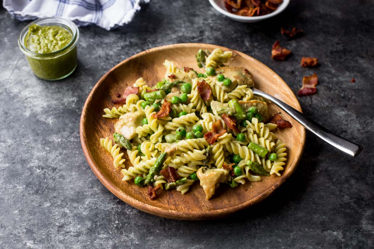 Creamy Chicken And Pesto Pasta Cook Smarts